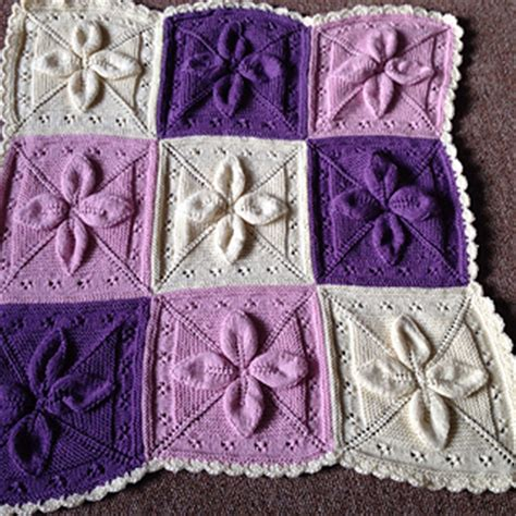 leaf pattern knitted blanket ravelry lucky 4 leaf afghan 12 quot block pattern by margaret
