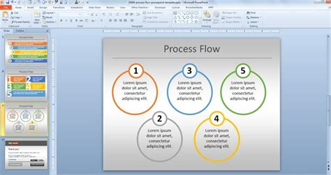 download flow chart template powerpoint simple process