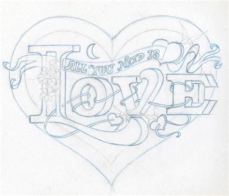 Drawing Hearts by Pencil Drawings Drawings In Pencil