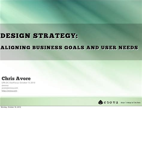 layout strategy slideshare design strategy aligning business goals and user needs