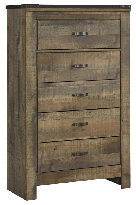 ashley furniture dresser chest ashley signature design trinell b446 46 rustic look five