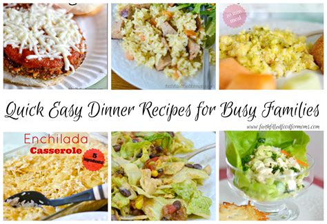 quick easy dinner recipes for the family 1 faith filled food for moms