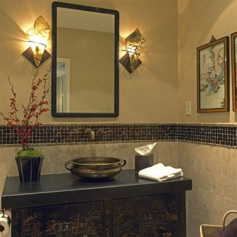 Half Bathroom Tile Ideas Bathroom Tile The Idea Of Tiling Half The Wall With Colored Tile Trim Makes It A