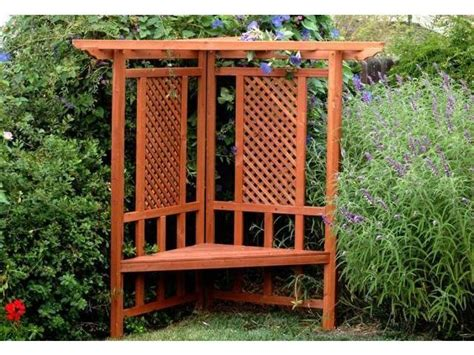 garden bench with trellis trellis bench outdoor living pinterest