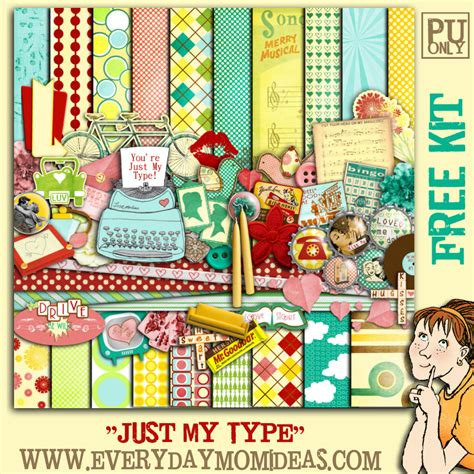 Digital Scrapbooking Wiki Launches 3 by Quot Just My Type Quot Free Digital Scrapbooking Kit Everyday