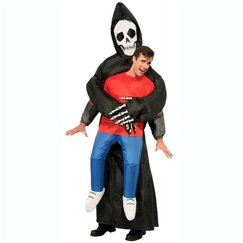 inflatable grim reaper illusion costume  green head