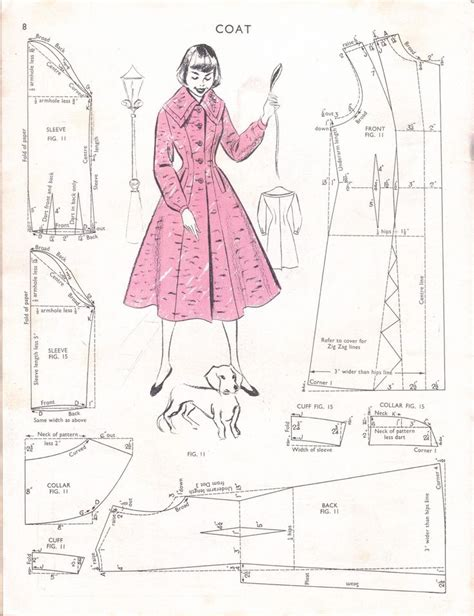sewing templates free vintage coat sewing pattern sewing patterns