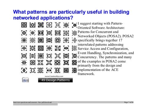 singleton pattern interview questions net top design patterns interview questions and answers job