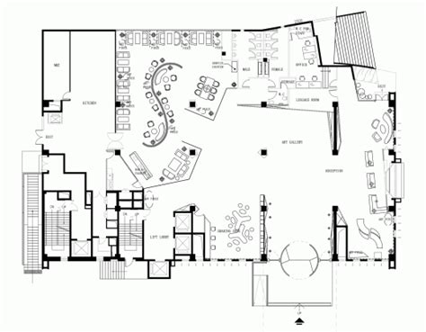 hotel reception layout plan skytel panorama archdaily