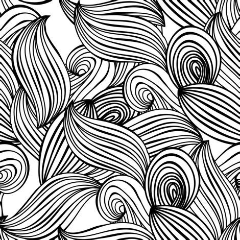 contour wallpaper abstract leaves lines waves sea ocean plants leaves scandinavian