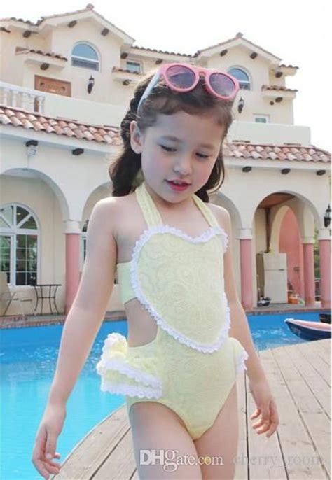 young girls swimwear age 13 2016 childrens swimwear korean lace heart ruffle kids swim