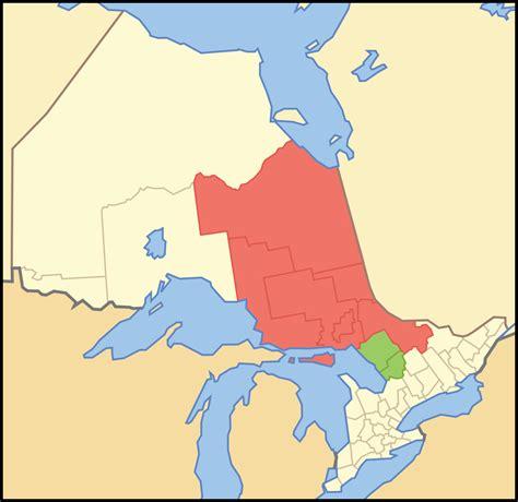 northeastern map northeastern ontario