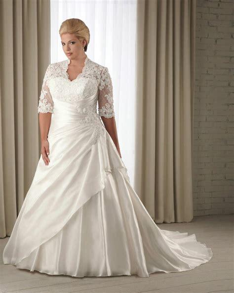 half sleeve wedding dress bridal gown custom plus size 14