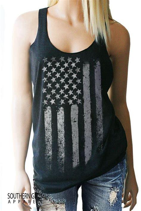 Bonia Merica Bn09 Black Blue american flag tank top country shirt country