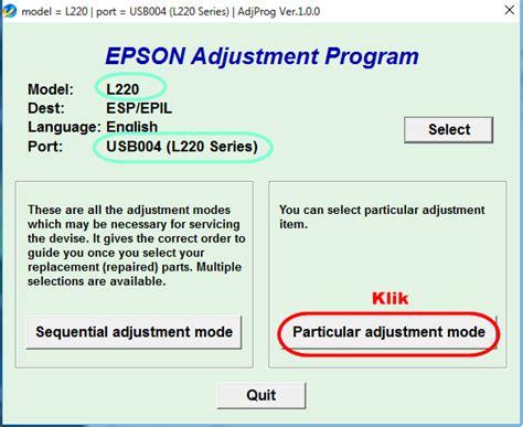 cara menggunakan resetter epson 1390 cara menggunakan resetter epson adjustment program