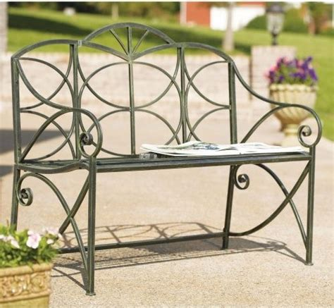 metal garden seats and benches metal garden bench with slat seat contemporary outdoor benches by hayneedle