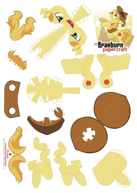 Paper Craft Patterns - braeburn papercraft pattern by kna on deviantart