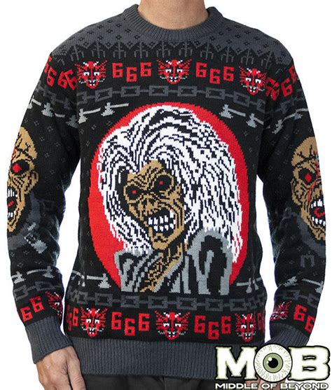 heavy metal ugly christmas sweaters