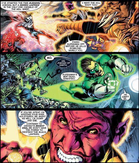 green lantern vs black lantern superman comicnewbies