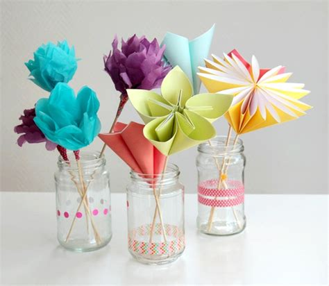 Paper Flowers Craft - make a bouquet of beautiful paper flowers for s day