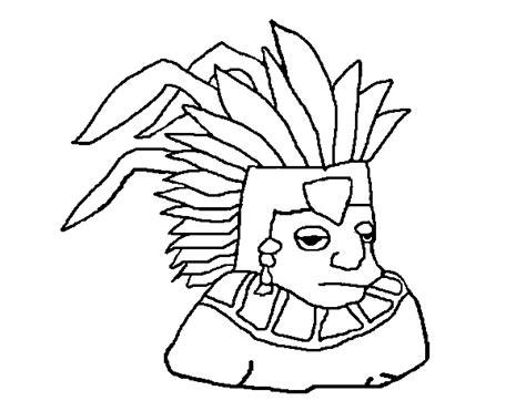 imagenes rostros aztecas dibujo de azteca para colorear dibujos net
