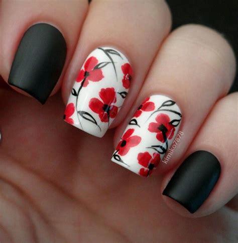 imagenes de uñas rojas y negras 17 mejores ideas sobre u 241 as decoradas rojas en pinterest