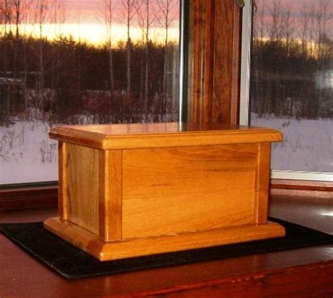 wood cremation urn box plans   build wood