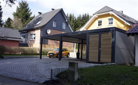 carport holz design metall carport aus stahl holz mit abstellraum wien