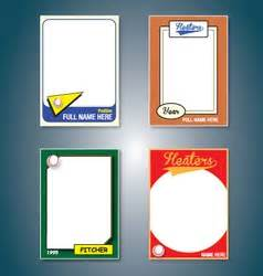 large baseball card template borders frame vector royalty free vectors