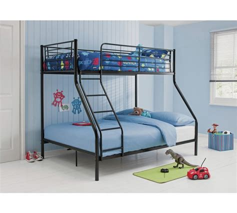 bunk bed argos buy home metal bunk bed with elliott mattress