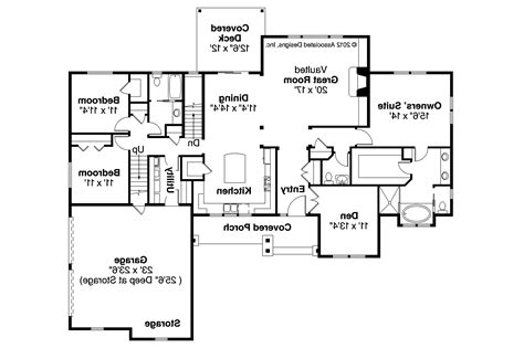 Ranch House Floor Plan by Ranch House Plans Manor 10 590 Associated Designs