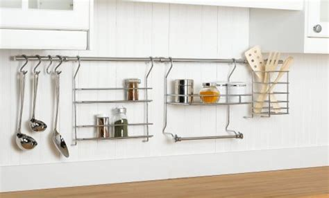 Closet Rail System Closetmaid 3059 Kitchen Organizer Rail System Chrome