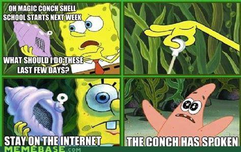 The Conch Has Spoken Meme - spongebob squarepants spongebob squarepants fan art