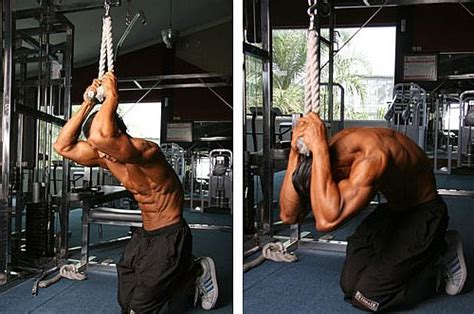abs workout 12 cable kneeling crunch by munfitnessblog