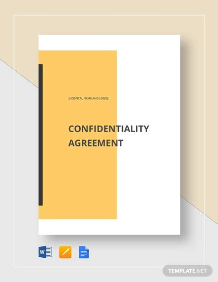 patient confidentiality agreement template patient confidentiality agreement 10 free word pdf