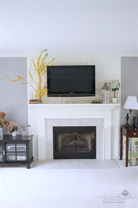 what to do with fireplace 1000 ideas about tv above mantle on tv above