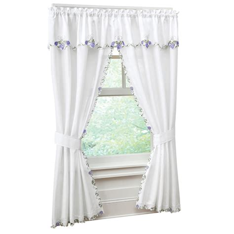 hydrangea curtains collections etc embroidered floral hydrangea valance and