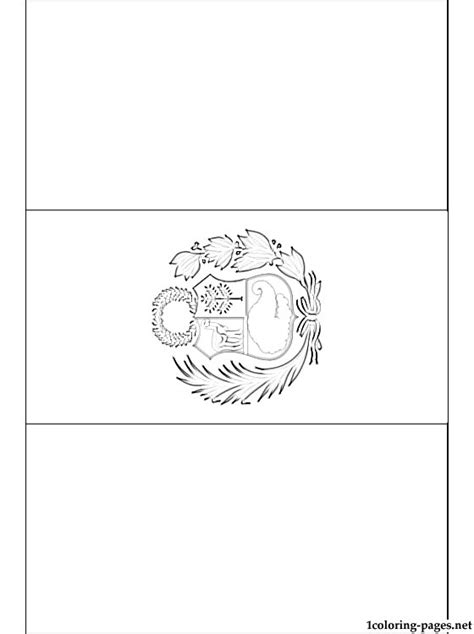 peru flag coloring page coloring pages