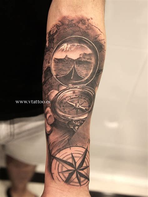 tattoo on arm boy tatuajes de mapas y brujulas buscar con google mapas