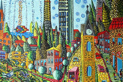 pattern landscape art zentangle city landscape artist raphael perez zen tangle d