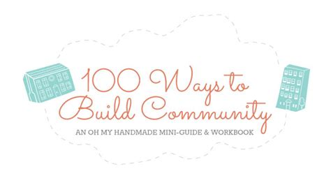Oh My Handmade - 100 ways to build community in 2014 beyond oh my handmade