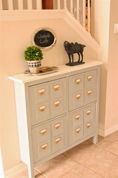 ikea shoe cabinet hack windgate lane faux card catalog