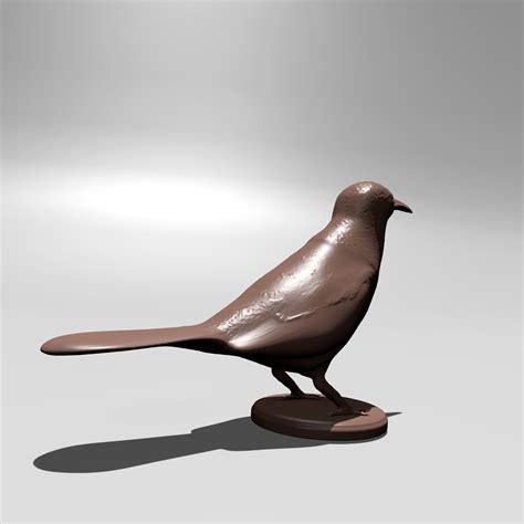 printable bird  model  printable stl cgtradercom