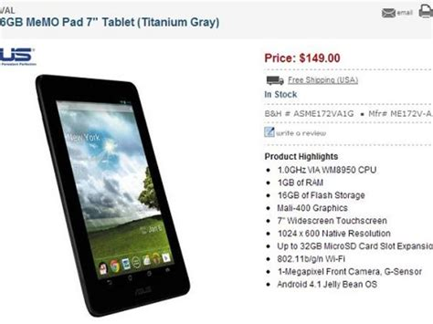 memo pad for android asus memo pad 7 inch android tablet now available in u s for 149 zdnet