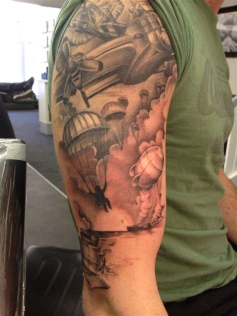 world war 2 tattoos design normandy s battle half sleeve tattoos of honor