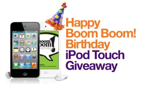 Ipod Touch Giveaway - boom boom cards marks 3 year anniversary with leap day ipod 174 touch giveaway prlog