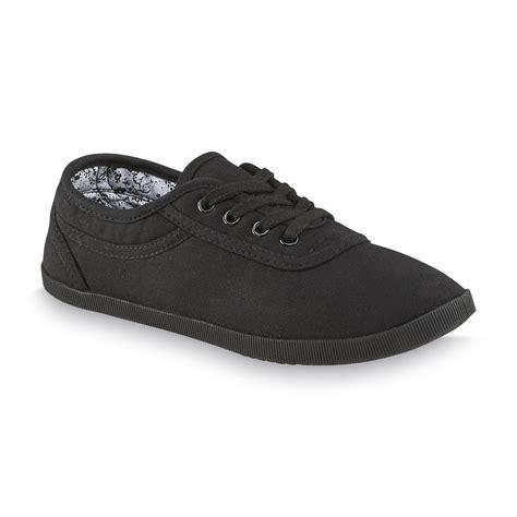 basics sneaker store basic editions s eavan black canvas oxford shoe
