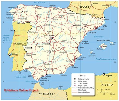 map of spain and portugal major roads of spain and portugal maps