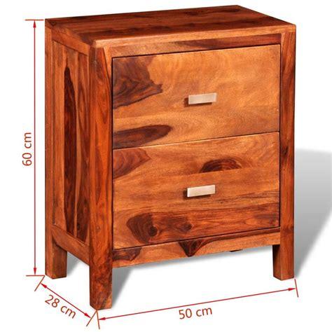 comodino legno comodino con 2 cassetti in legno massello di sheesham