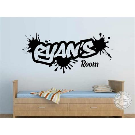 Boys Wall Art Stickers personalised graffiti wall stickers boy girls bedroom